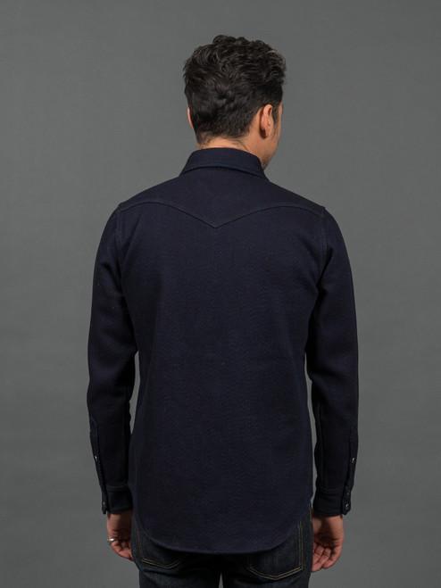 Iron Heart IHSH-208 Indigo Kersey Western Shirt