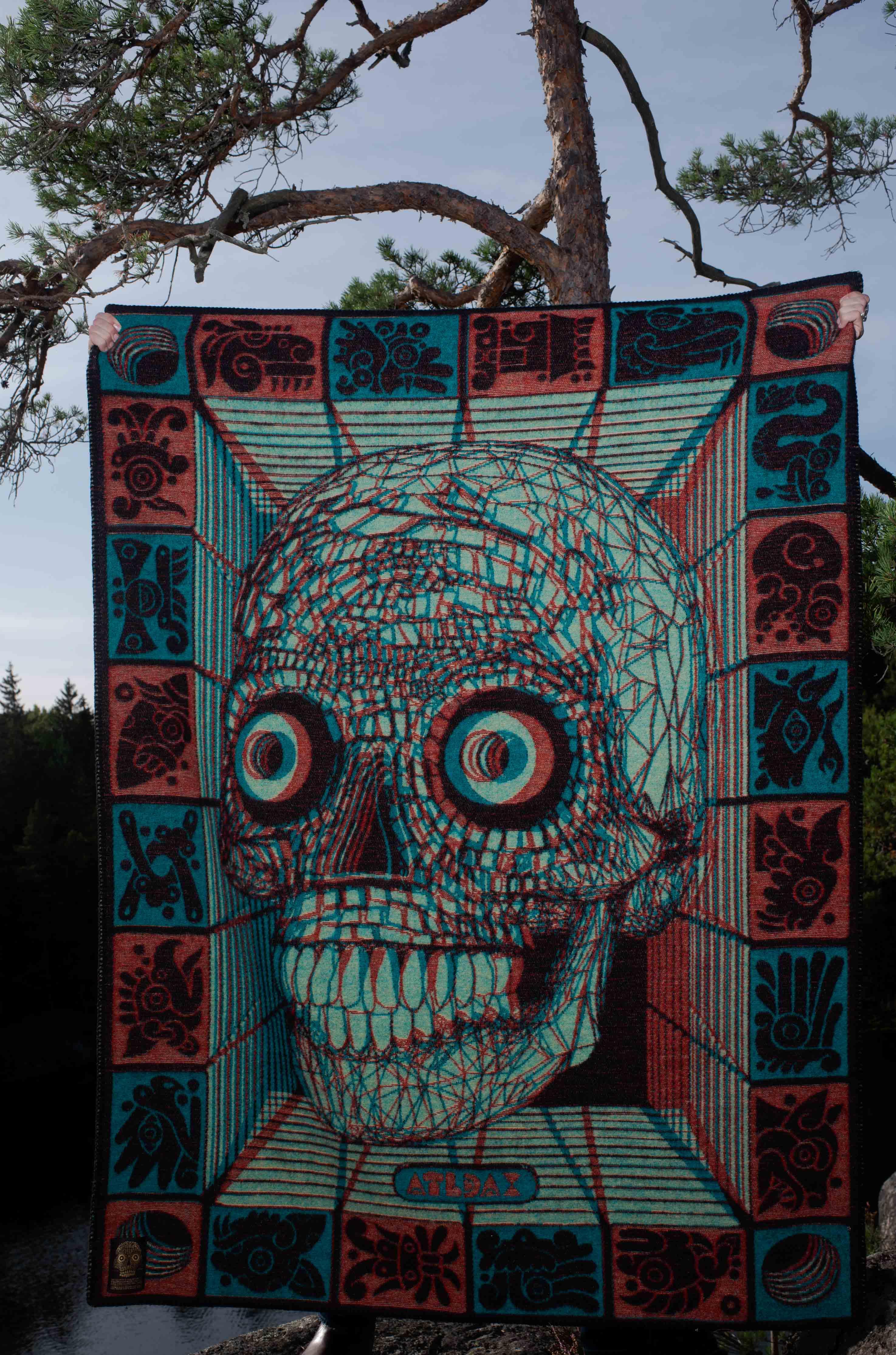 Indigofera  Stereoscopic 3D Blanket