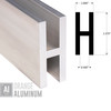 """H Sections - Fits 1/2"""" - 1/4"""" Wall"""