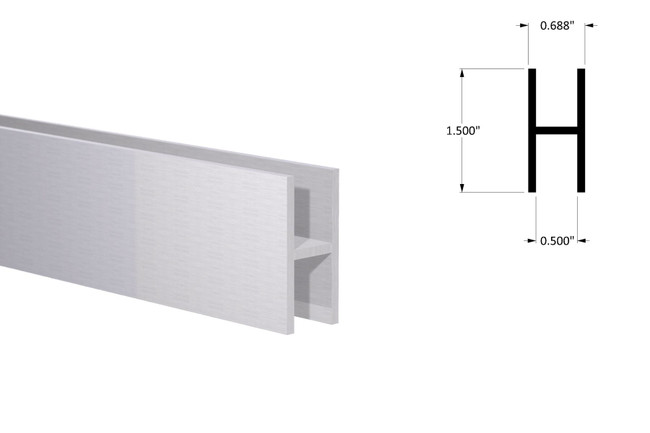 """H Sections - Fits 1/2"""" - 1-1/2"""" Height"""