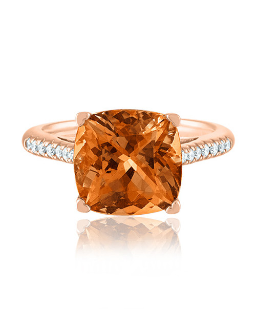 Citrine Ring in rose Gold
