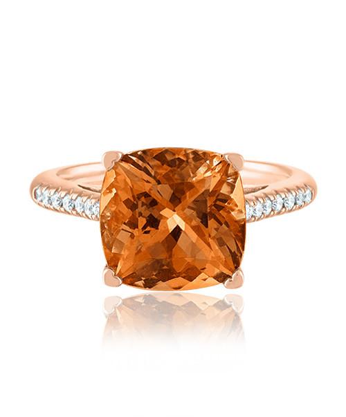 Citrine Ring in rose Gold