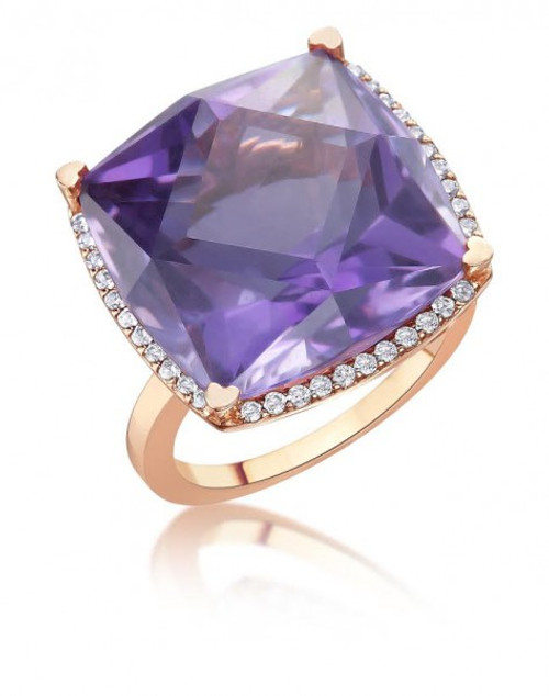 Cushion Amethyst Cocktail Ring