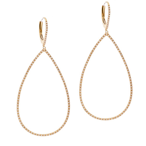 Teardrop Hoop Earrings in Gold