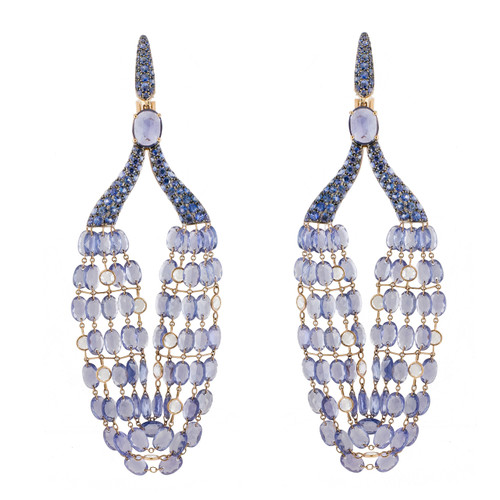 Lilac Sapphire Chandelier Earrings