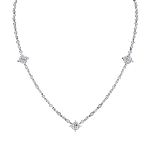 Lisa Nik Marquise Diamond Tennis Necklace