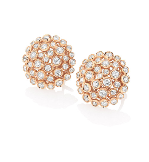 Casato Cluster Diamond Earrings in Rose Gold