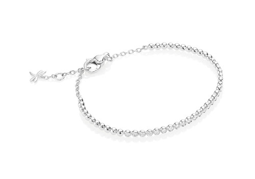 Casato Bezel Set Bracelet in White Gold