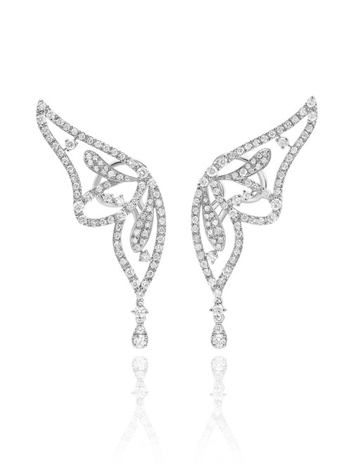 Casato Diamond Butterfly Earrings