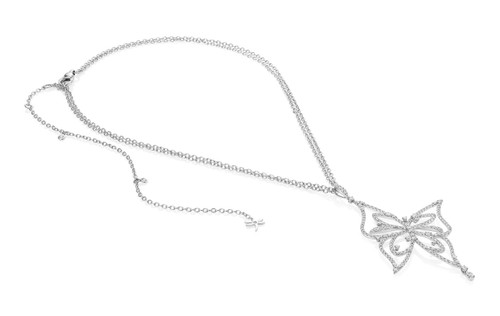 Casato Diamond Butterfly Necklace