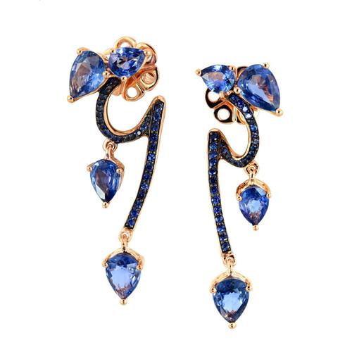 Etho Maria Sapphire Vine Earrings | Sapphire Bridal Earrings