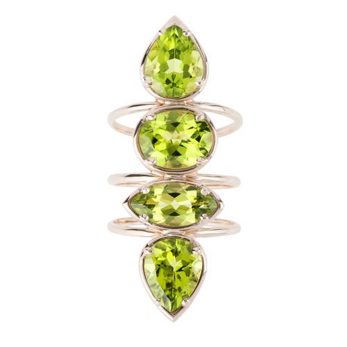Etho Maria Peridot Ring in Rose Gold Ring