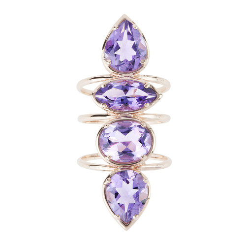 Etho Maria Amethyst Ring in Rose Gold
