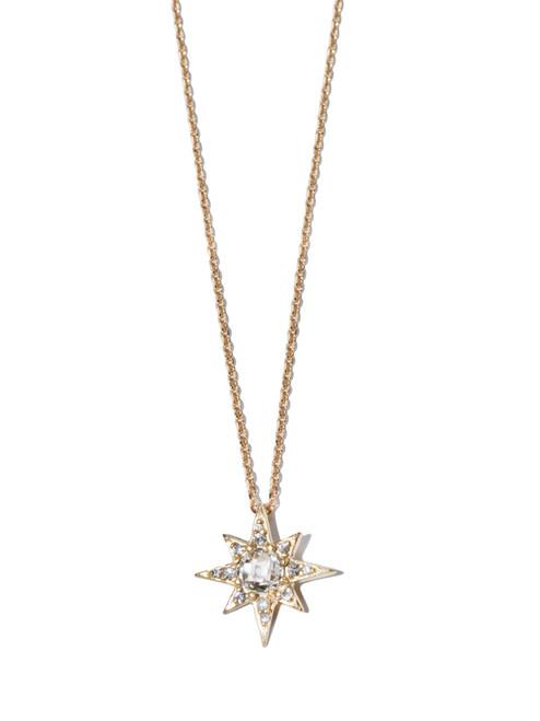 Anzie Aztec Mini Starburst Necklace- White Topaz