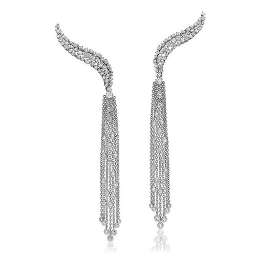 Evening Diamond Tassel Earrings