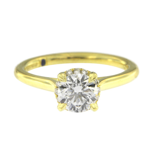 Brilliant Solitaire Engagement Ring in Yellow Gold
