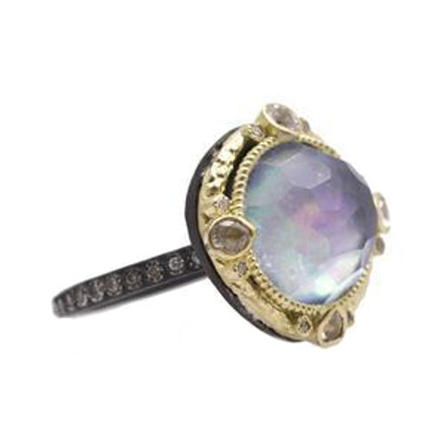 Armenta Mother of Pearl and Quartz Ring