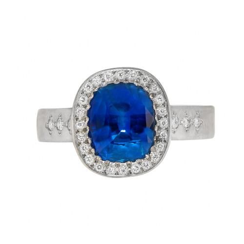 Chefridi Blue Sapphire Engagement Ring