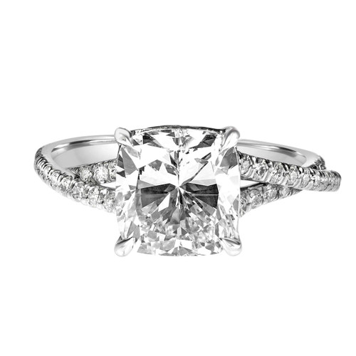 Cushion Diamond Engagement Ring with Braided Band