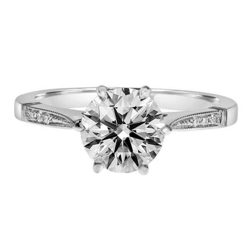 White Gold Six Prong Diamond Engagement Ring