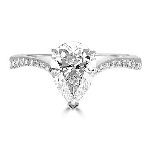 Pear Shape Diamond Engagement Ring - Entebbe