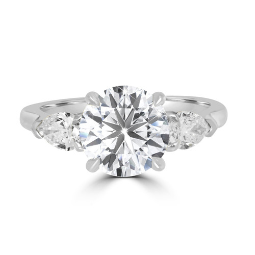 Brilliant Cut Diamond Engagement Ring with Pears - Sierra
