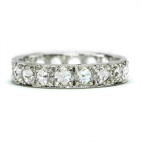 Rose Cut Diamond Wedding Band