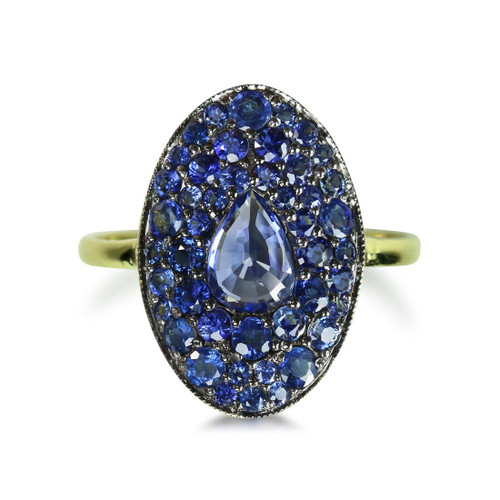 Blue Sapphire Cocktail Ring