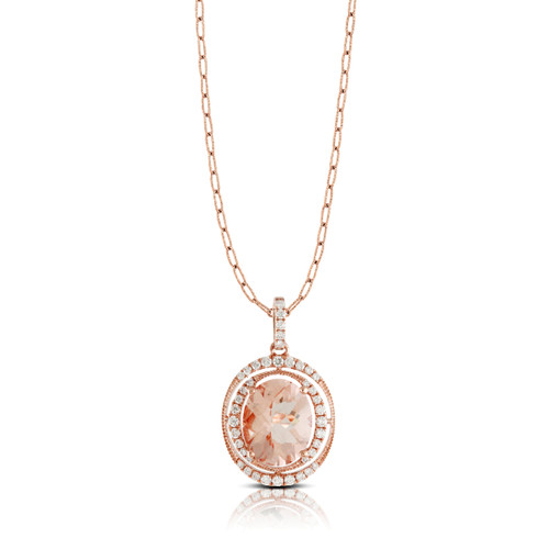 Oval Morganite Pendant