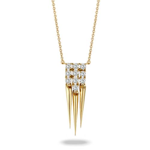 Gold and Diamond Tassel Pendant