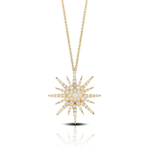 Gold Starburst Pendant