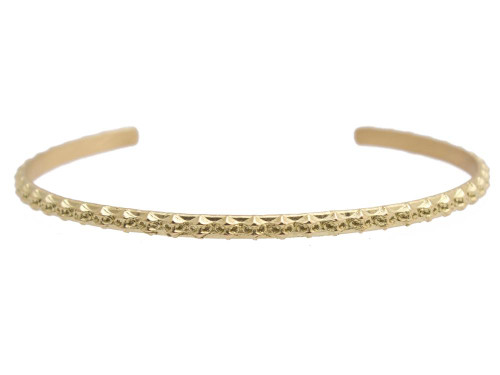 Armenta Thin Gold Bangle