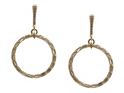 Armenta Baguette Hoop Earrings