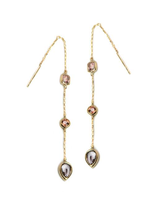 Anzie Chain Earrings Pink