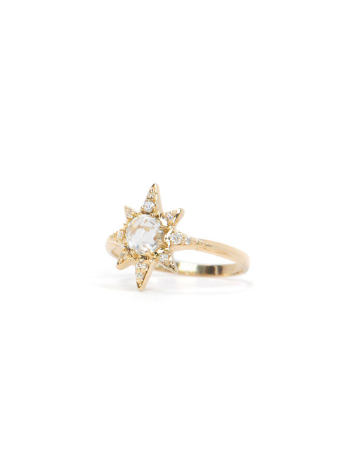 Anzie Star Ring in Gold