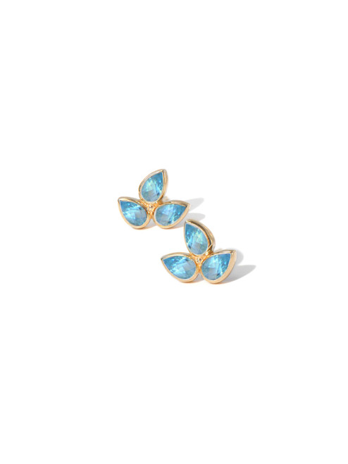 Anzie Mini Bouquet Studs Blue