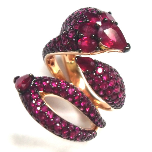 Ruby Dragon Cocktail Ring