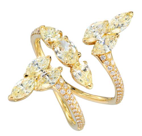 Yellow Diamond Cocktail Ring