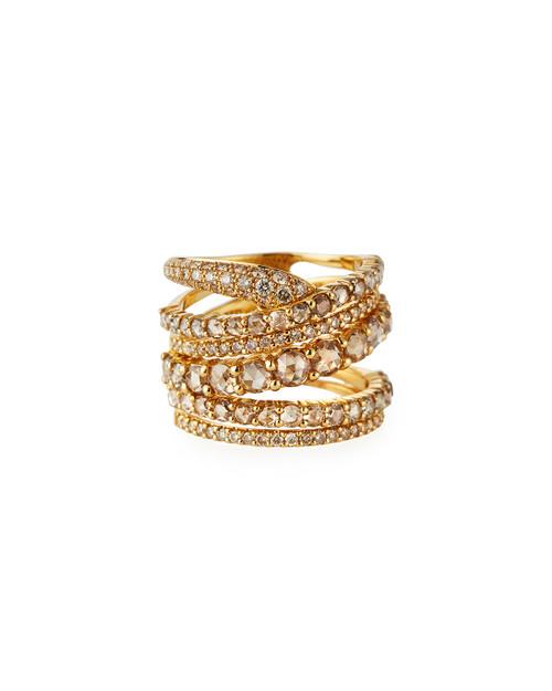 Champagne Diamond Multiband Ring