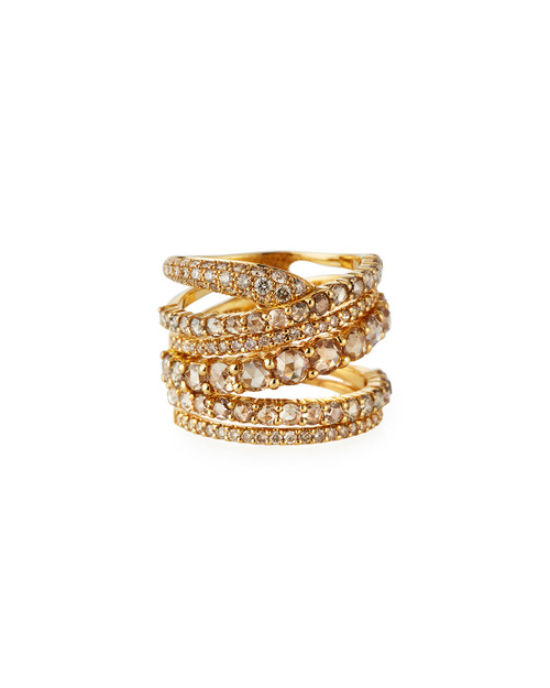 Champagne Diamond Multiband Ring