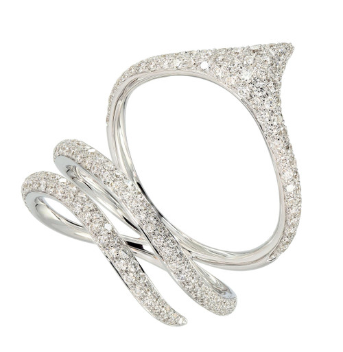 Diamond Pave Ring in White Gold