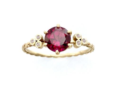Garnet Twist Ring