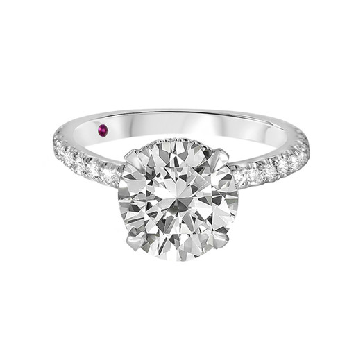 Brilliant Cut Diamond Engagement Ring with Pave