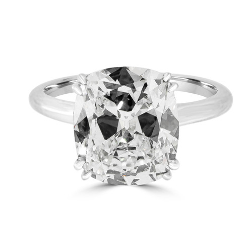 Solitaire Cushion Brilliant  Diamond Engagement Ring