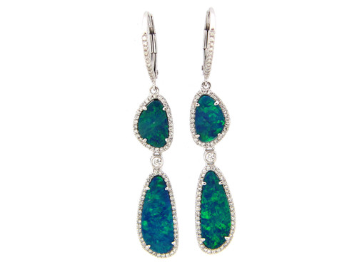 Double Drop Opal Earrings