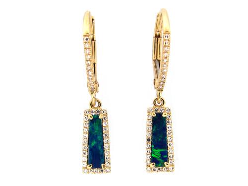 Mini Opal Drop Earrings