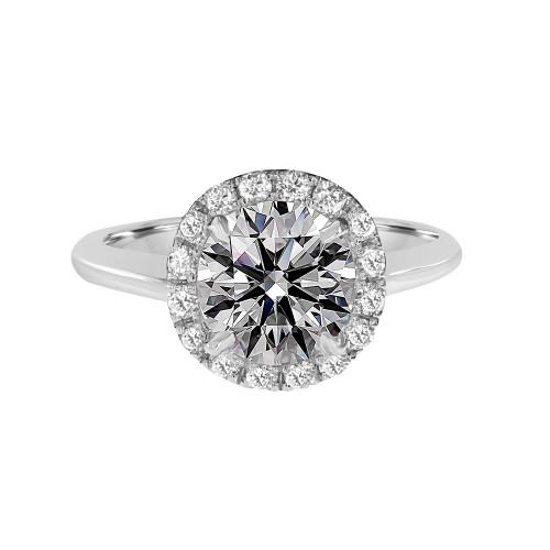 Brilliant-cut-diamond-solitaire-diamond-halo-ring