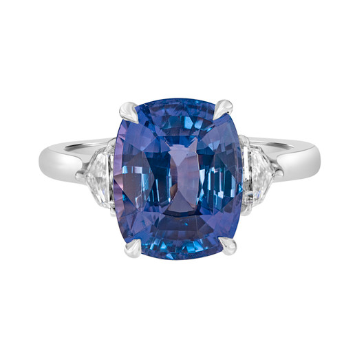 Color Change Purple Sapphire Ring