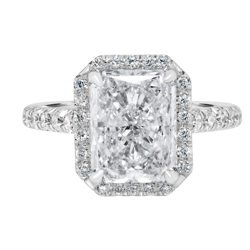 Radiant-Diamond -Engagement-Ring with Halo