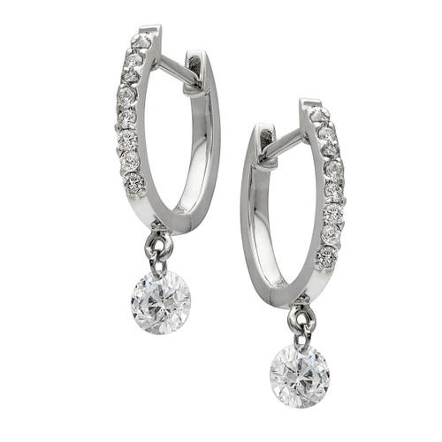 Floating Diamond Earrings on Huggy